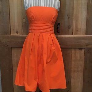 TweezeMe Orange Strapless Party Dress NWT Size 13